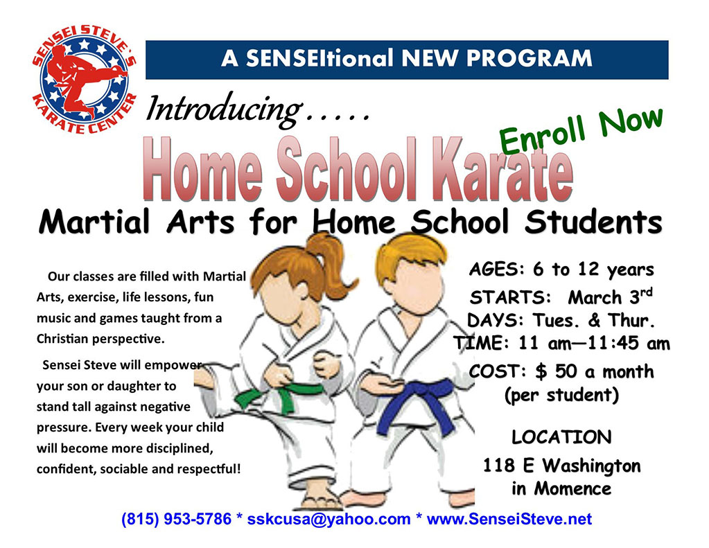 New home-schooled kids classes in Momence on Tuesdays and Thursdays at 11am