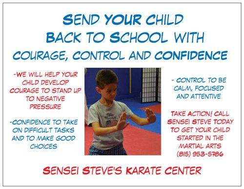 flyer for Courage, Control, and Confidence